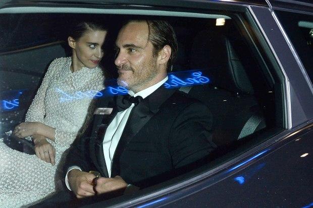 Rooney Mara Joaquin Phoenix same car Cannes