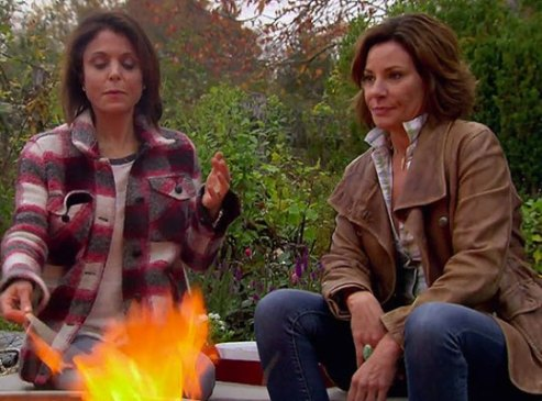 rhony bethenny luann fire